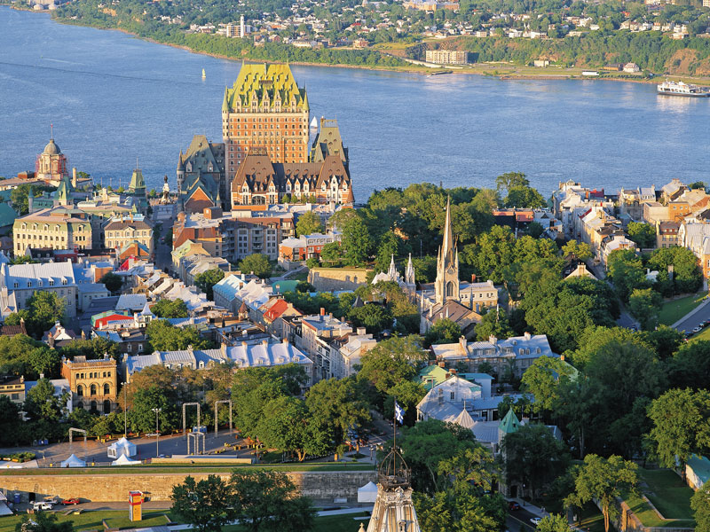 Montreal & Quebec Cities by Rail   Quebec City