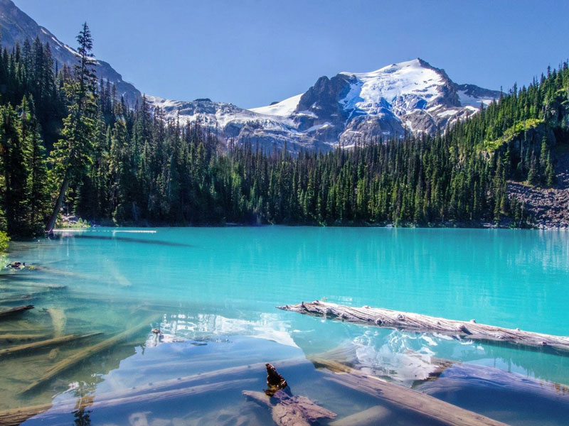 Canadian Rockies Scenic Delights by Road & Rail | Joffee Lake between Whistler & Sun Peaks Resort