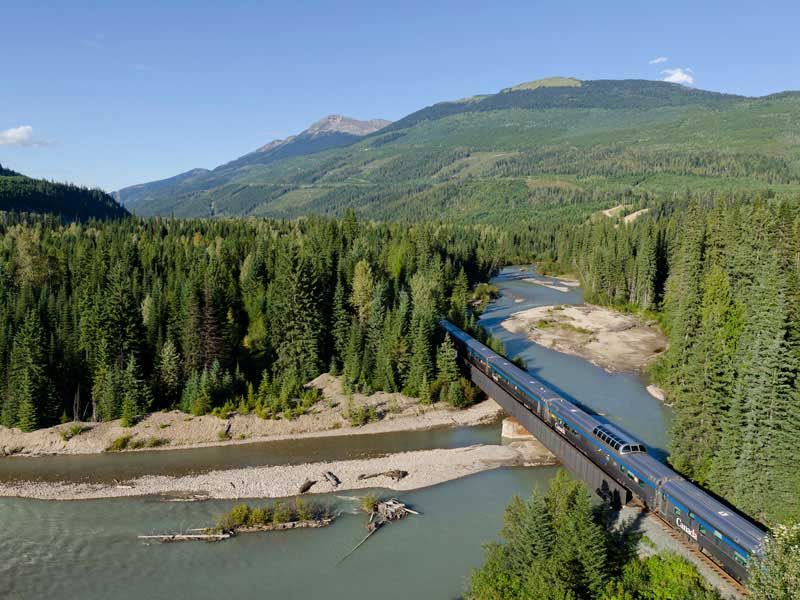 Canadian Rockies Train Combo Circle Tour with Alaska Denali Cruise Tour | VIA Rail