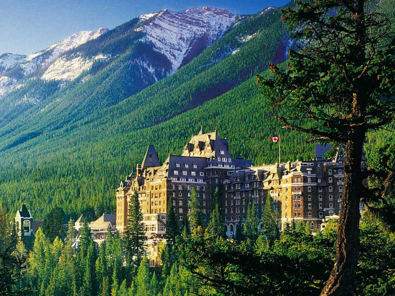 Canadian Rockies Train Combo Circle Tour with Alaska Denali Cruise Tour | Fairmont Banff Springs Hotel