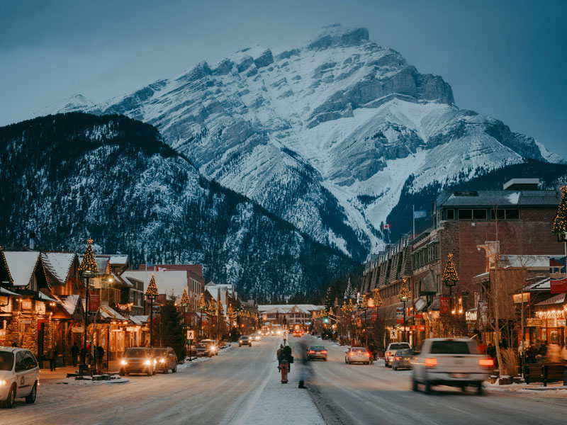 Christmas in the Canadian Rockies Winter Rail Vacations | Banff