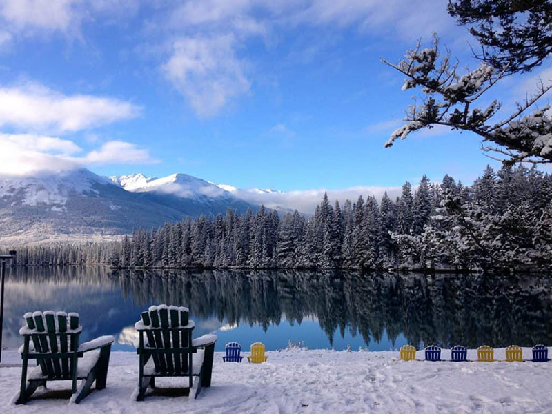Christmas in the Canadian Rockies Winter Rail Vacations | Fairmont Jasper Park Lodge