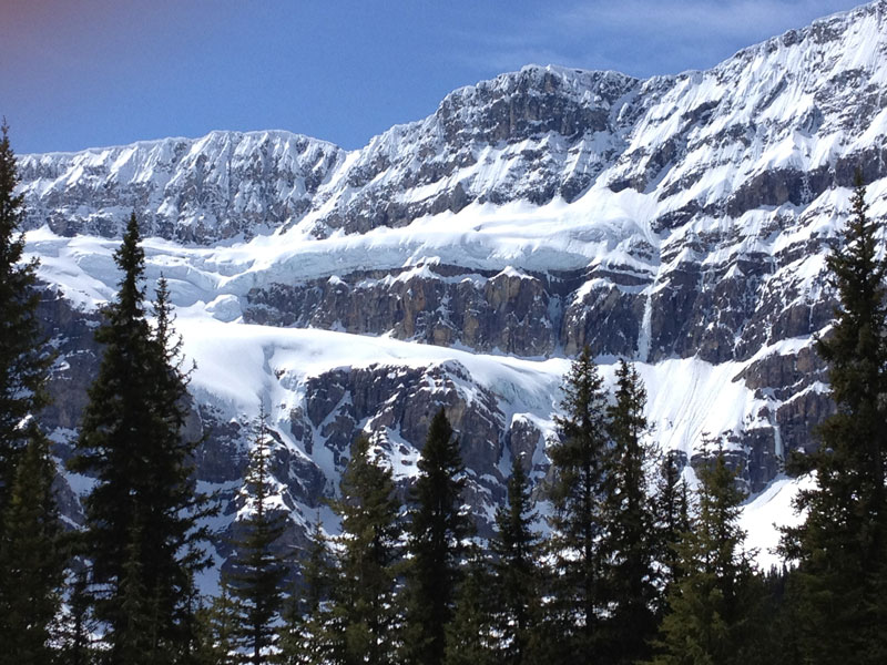 Christmas in the Canadian Rockies Winter Rail Vacations | Crowfoot Glacier Icefield Parkway