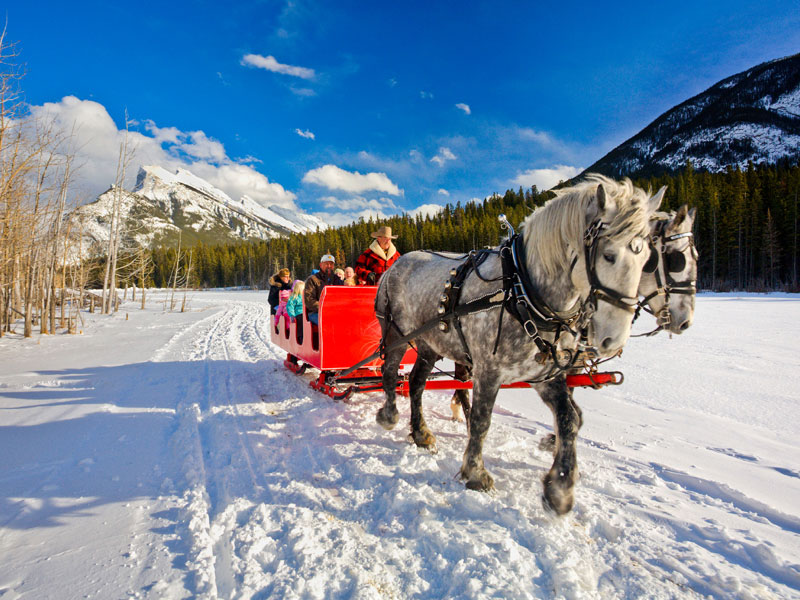 Christmas in the Canadian Rockies Winter Rail Vacations | Fairmont Chateau Lake Louise
