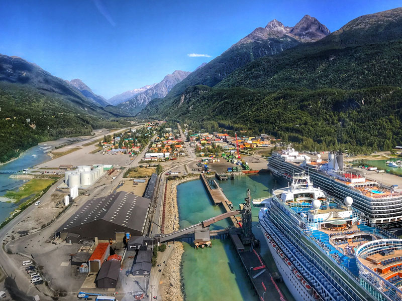 Circle Tour by Train through the Canadian Rockies with Alaska Cruise | Skagway
