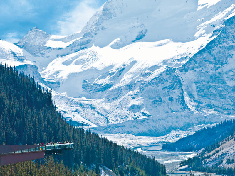 Circle Tour by Train through the Canadian Rockies with Alaska Cruise | Glacier Skywalk