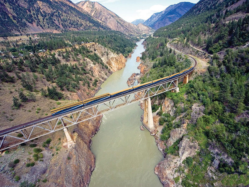 Classic Rocky Mountain Rail Circle Tour | Rocky Mountaineer in the Frazer Canyon