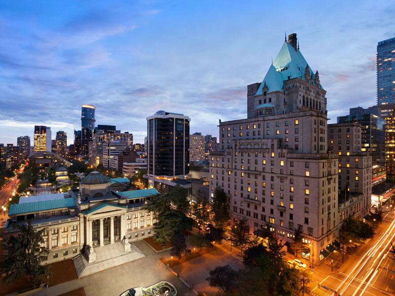 Stay at the Fairmont Hotel Vancouver | Canadian Rockies Train Vacations