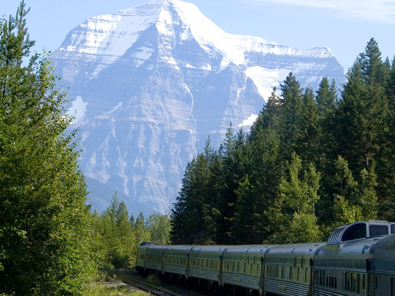 Grizzly Bears & the Canadian Rockies Train Vacation | VIA Rail nearing Jasper