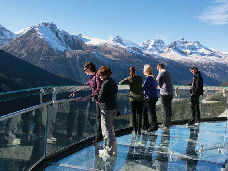 Journey through the Canadian Rockies Rail & Drive | Columbia Glacier Skywalk