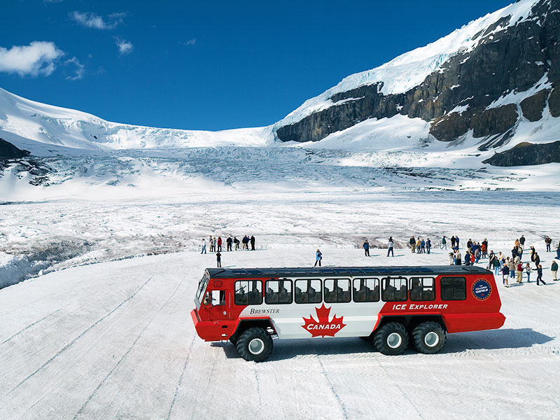 Journey through the Canadian Rockies Rail & Drive | Columbia Icefield Snowcoach