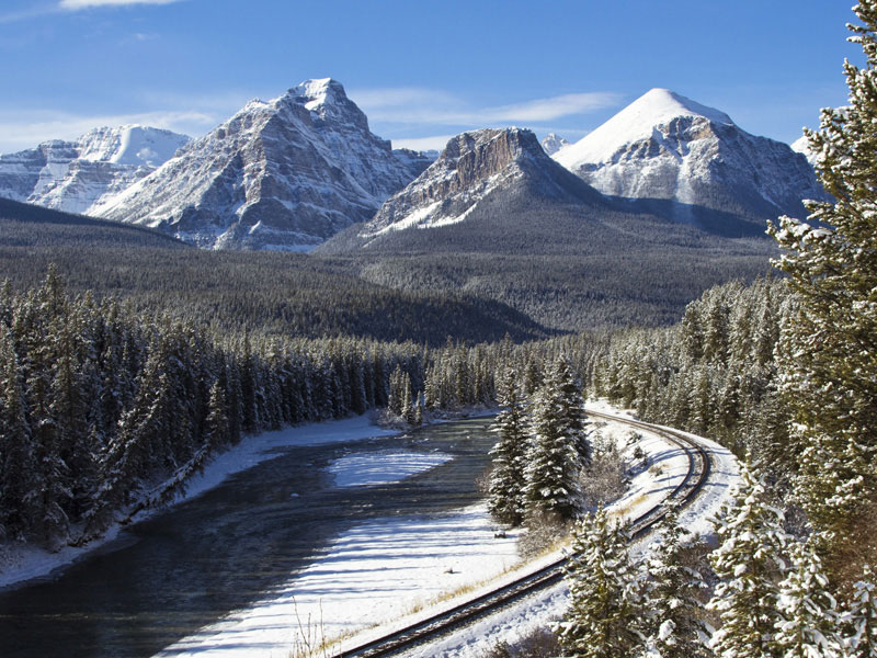 Winter Snow Train to the Canadian Rockies | Entering the Canadian Rockies