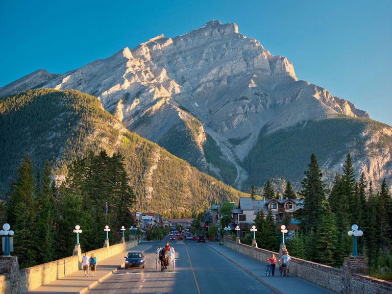 Spectacular West Train to the Canadian Rockies | Banff Avenue