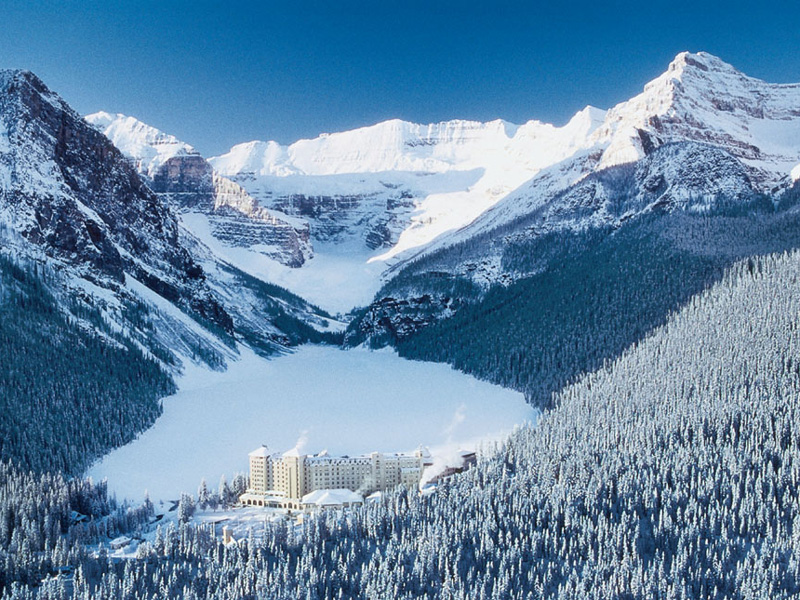 Canadian Rockies Winter Train Vacation | Fairmont Chateau Lake Louise